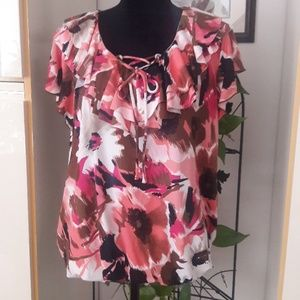 (SOLD!) ✔🍂NEW DIRECTION WOMENS FLORAL BLOUSE